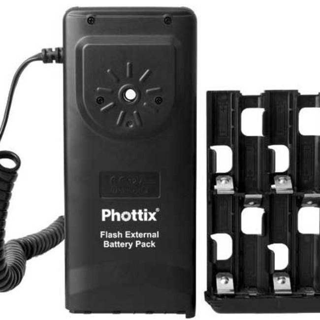 Батарейный блок для вспышек Nikon Phottix (Nikon SD-9A) на 8 батареек АА