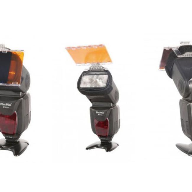 Комплект цветных фильтров Phottix Gel для вспышки с креплением (горячий башмак)