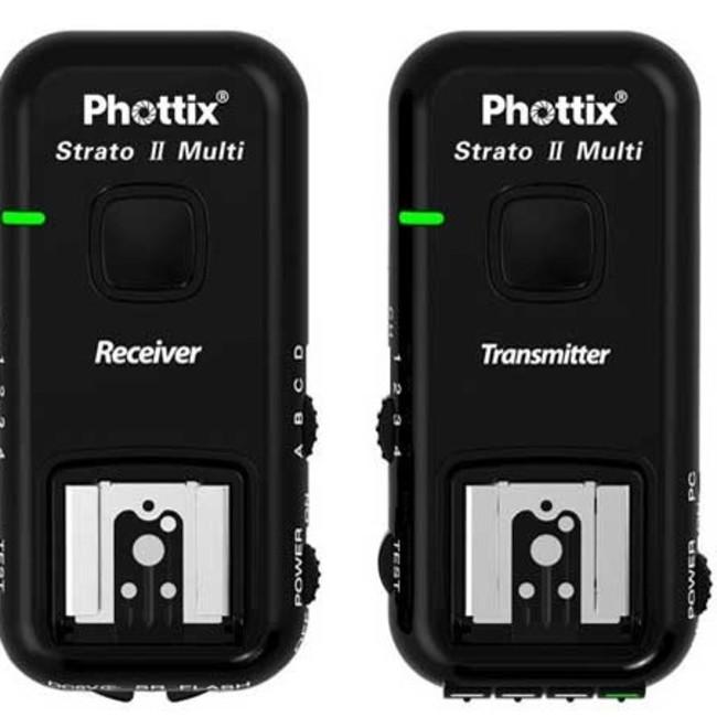 Приемник/передатчик Phottix Strato II 2.4 GHz для многоканального управления вспышкой 5 в 1 для Canon (с кабелями)