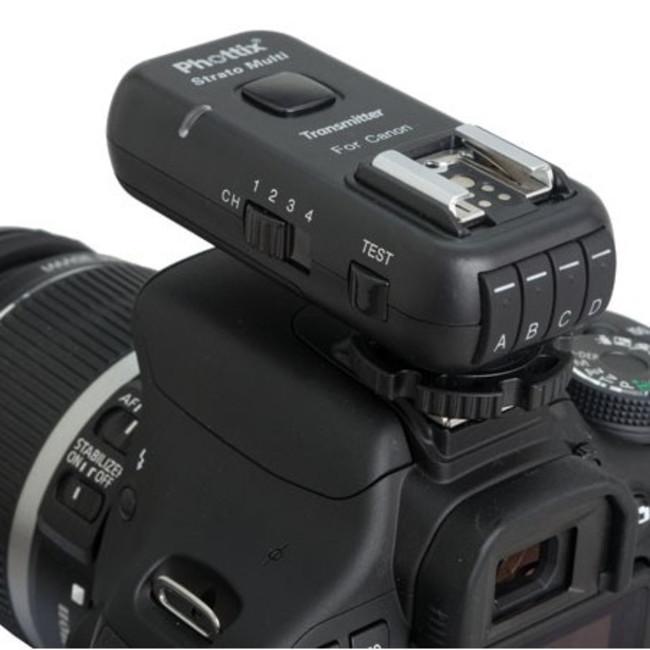 Приемник/передатчик Phottix Strato II 2.4 GHz для многоканального управления вспышкой 5 в 1 для Nikon (с кабелями)