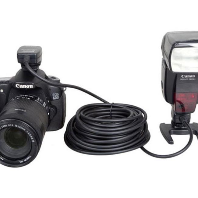 Синхрокабель Phottix OC-E3 для TTL вспышки Canon, 10м