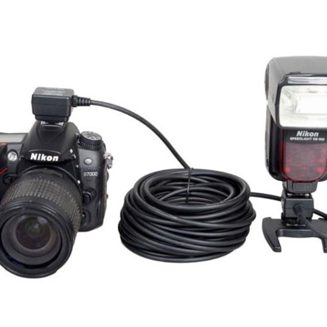 Синхрокабель Phottix SC-28 для TTL вспышки Nikon сигнальный 10м