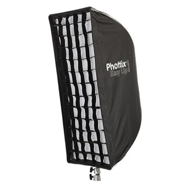 Легко-складываемый зонт-софтбокс Phottix HD с решеткой 40х90 см