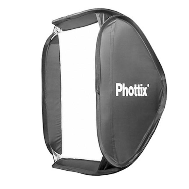 Софтбокс Phottix Transfolder Deluxe 60x60см с круглым окном и решеткой