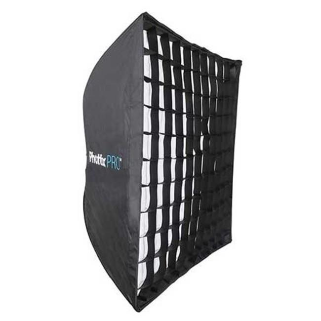 Профессиональный легко-складываемый зонт-софт бокс Phottix HD с решеткой 90х90см
