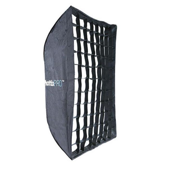 Профессиональный легко-складываемый зонт-софт бокс Phottix HD с решеткой 60х90см