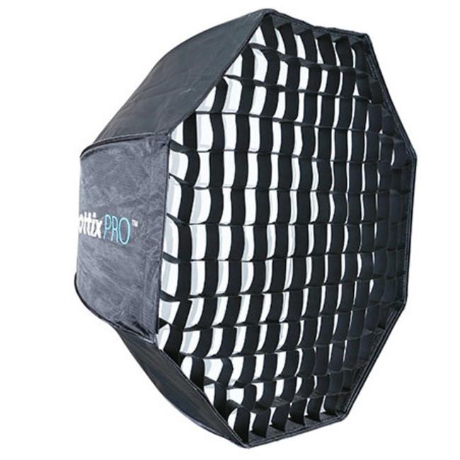 Профессиональный легко-складываемый восьмиугольный зонт-софтбокс Phottix HD с решеткой 80 см
