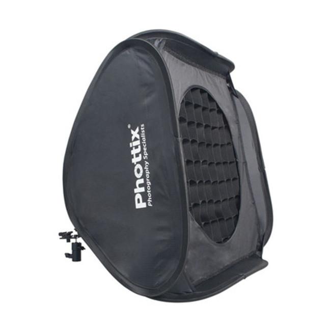 Легко-складываемый софтбокс Deluxe kit Phottix 60x60см с сеткой и маской