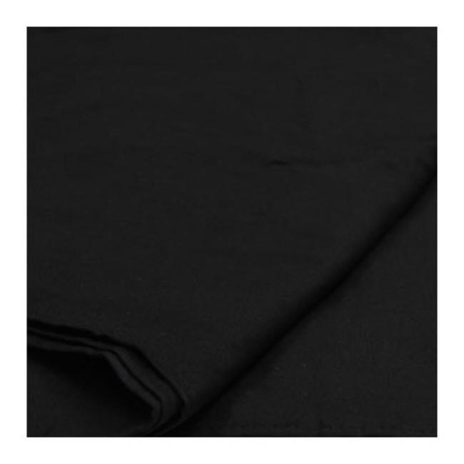 Бесшовный черный фотографический фон-муслин Phottix (3 x 6m)