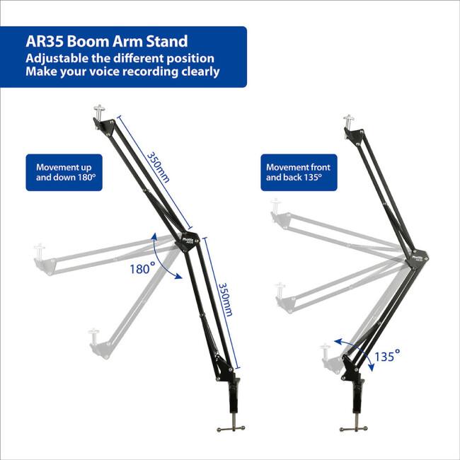 Phottix (99930) AR35 Boom Arm Stand кронштейн-крепление для легких камер освещения и микрофонов
