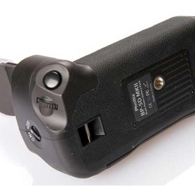Многофункциональная аккумуляторная рукоятка Phottix BP-5D MKII для Canon EOS 5D Mark II (Батарейный блок Canon BG-E6)