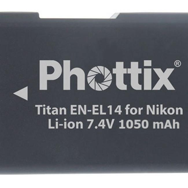 Аккумулятор Phottix Titan EN-EL14 для Nikon D3100/D3200/D5100/D5200/D5300