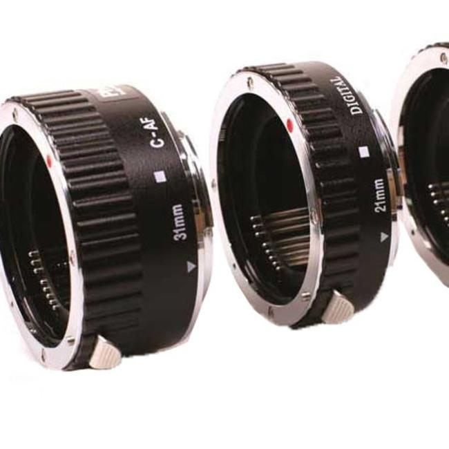 Набор из 3х колец Phottix AF для макросъемки c Canon (метал.)