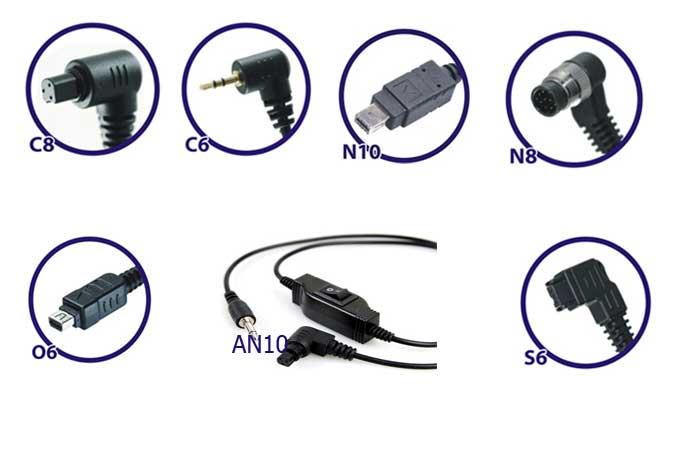 Совместимость кабелей Phottix. Для Nikon, Canon, Sony, Olympus.